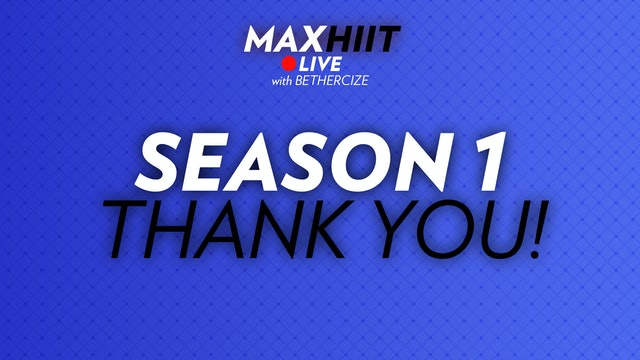 MaxHIIT LIVE | Thank You!