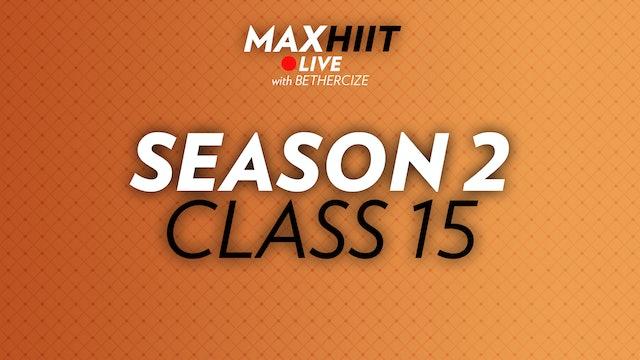 MaxHIIT LIVE | S2:C15 - Bodyweight Tabata
