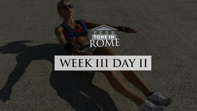 Tone in Rome | Week 3 | Day 2