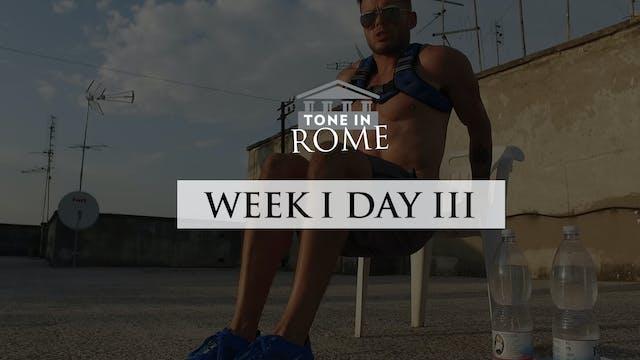 Tone in Rome | Week 1 | Day 3