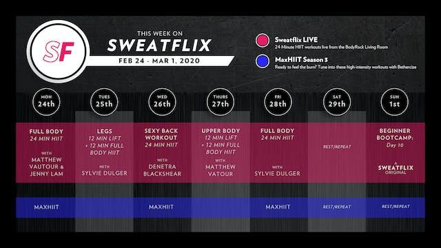 This Week on Sweatflix