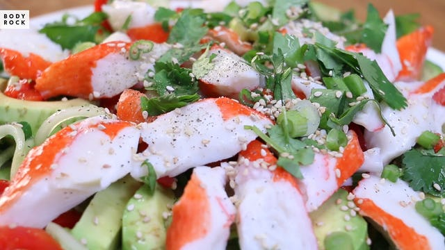 Crab and Cucumber Wasabi Salad