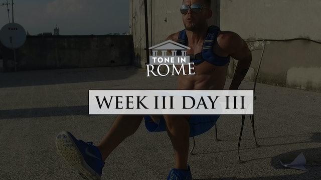 Tone in Rome | Week 3 | Day 3