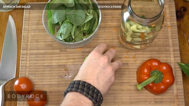 Spinach Jar Salad
