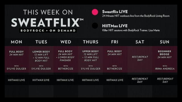 SFLIVE2019: Week 2 Schedule
