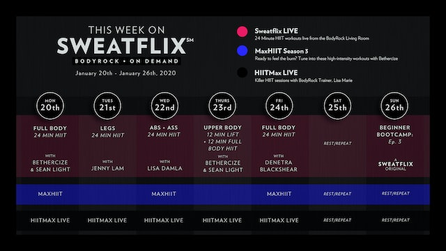 This week on Sweatflix: Jan 20th - Jan 26th