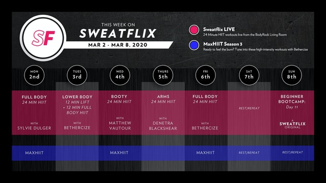 This week on Sweatflix: Mar 2 - Mar 8