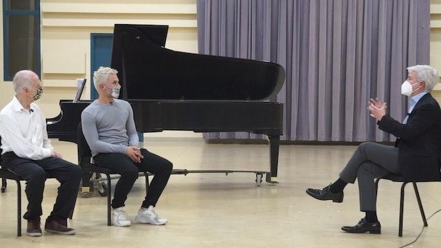Backstage Debussy & Schubert