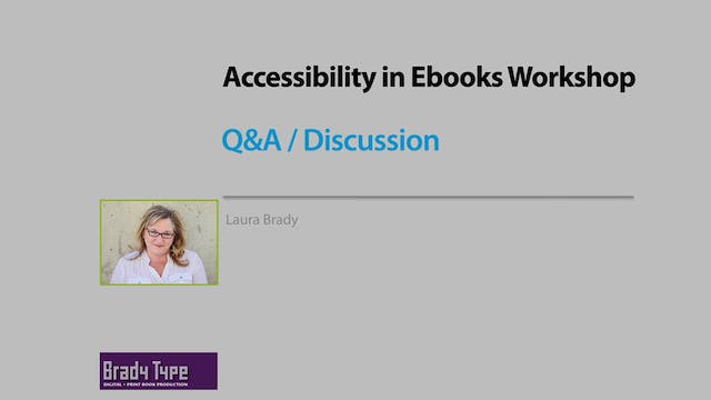 Accessibility Q&A / Discussion