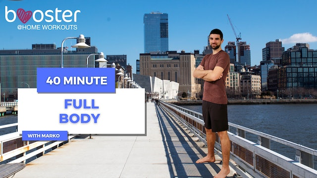 40' full body workout at Pier 40, New York