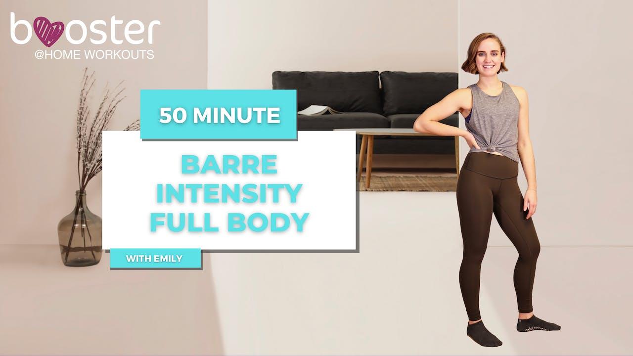 50' Barre Intensity in a modern sleek living room.