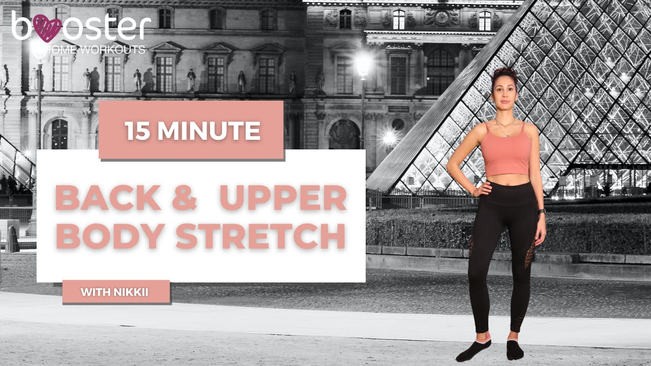 15' upper body Stretch in front of the Louvre