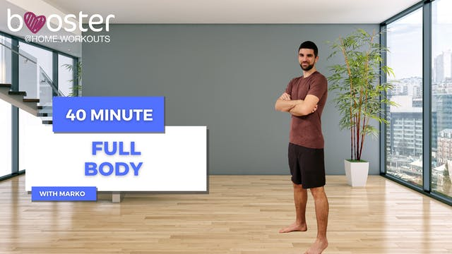 Full body workout in bright flat in S...