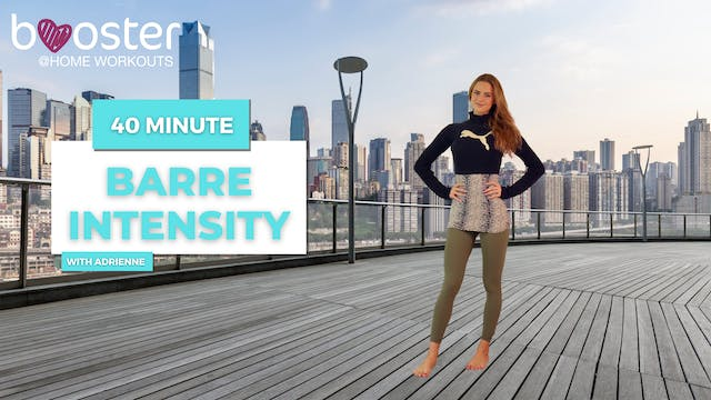 40' barre intensity with a panoramic skyline view
