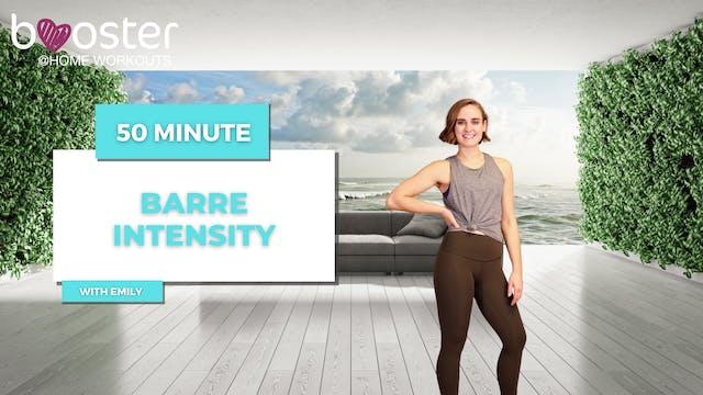 50' Barre Intensity on a sea terrace