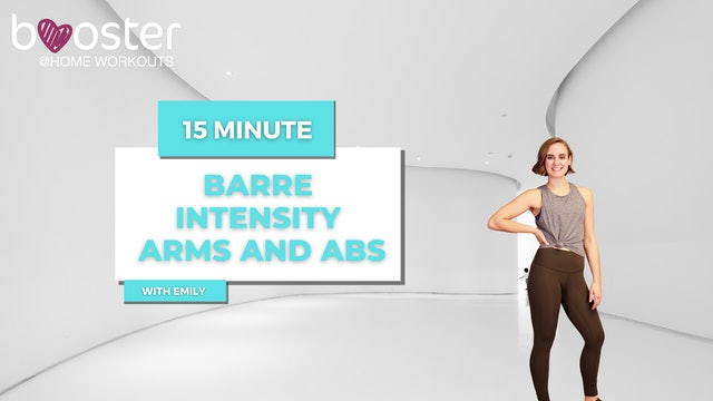 15' Barre arms and abs in a pristine hallway