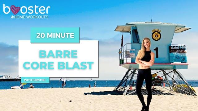 20' Barre core blast on the beach, Santa Cruz, CA