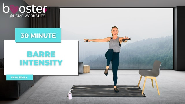 30' Barre Intensity with a foggy mountain view