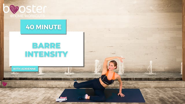 40' barre intensity next to the fountain