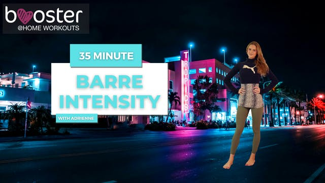 35' barre intensity at the Tropics hotel in Miami