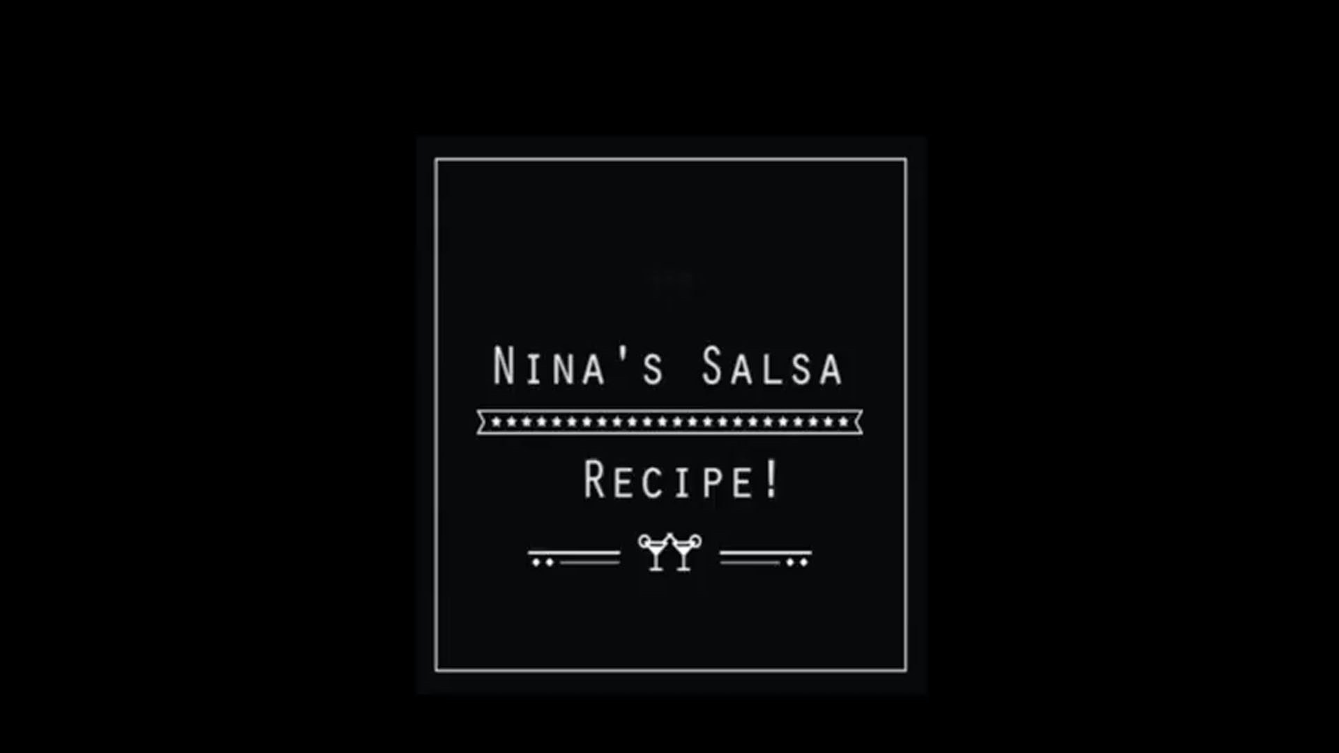 Nina's Salsa Recipe