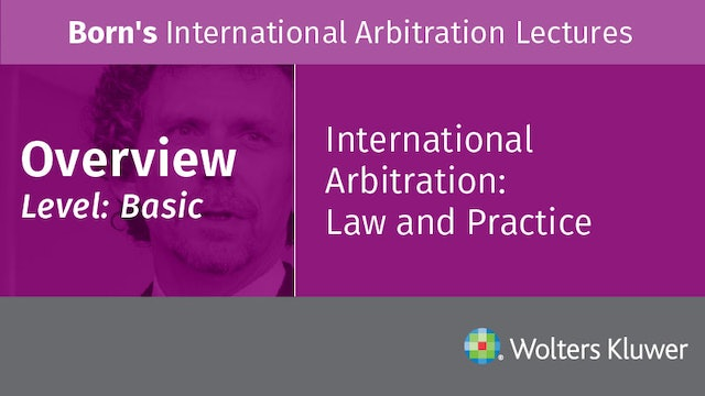 Overview of Arbitration Lectures