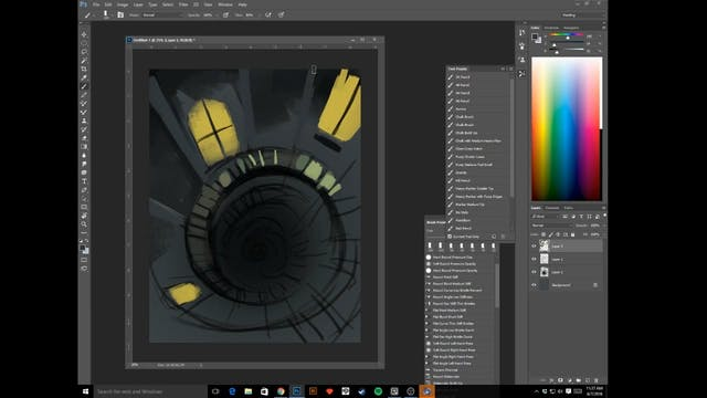 Spiral Staircase - Digital Paint