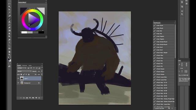 Full of Arrows - Digital Paint