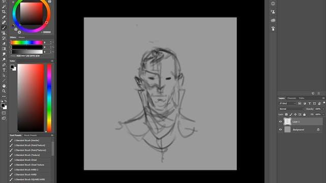 Masked Guy - Digital Paint