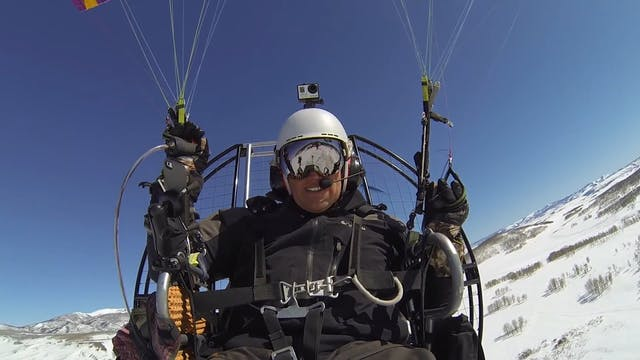 Winter Mountain Paramotor Flying