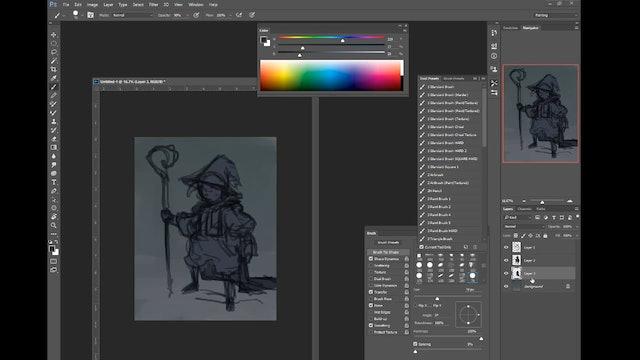 Wizard - Digital Paint