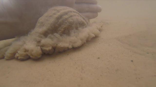Sand under water