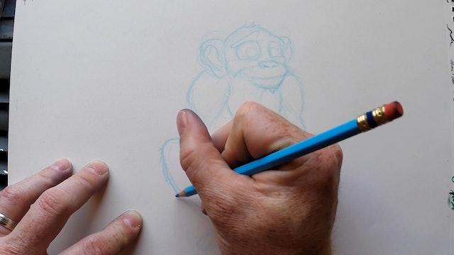 Monkey sketch I
