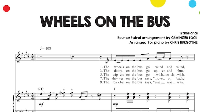 Wheels on the Bus Sheet Music