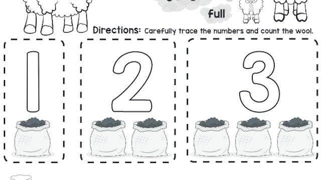 Baa Baa Black Sheep (Counting)