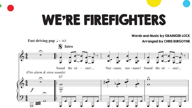 We're Firefighters Sheet Music