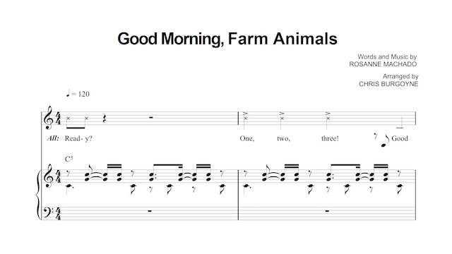 Good Morning, Farm Animals Sheet Music