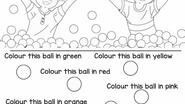 Ball Pit Party Worksheet
