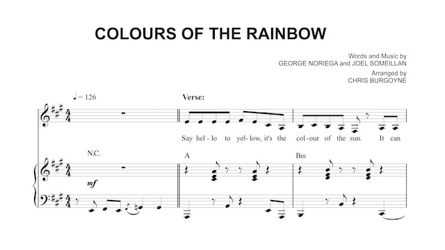 Colours of the Rainbow Sheet Music