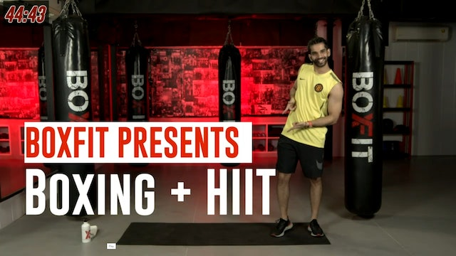 Thur 19/8 6pm  IST | Boxing + HIIT with Akhil |