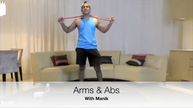 Sat 1/5 6pm IST | Arms & Abs with Manik