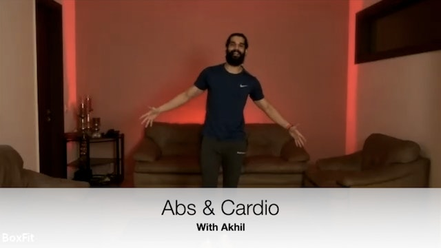 Sat 15/5 6pm IST | Abs & Cardio with Akhil