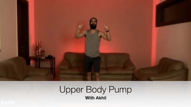 Tues 4/5 6pm IST | Upper Body Pump with Akhil