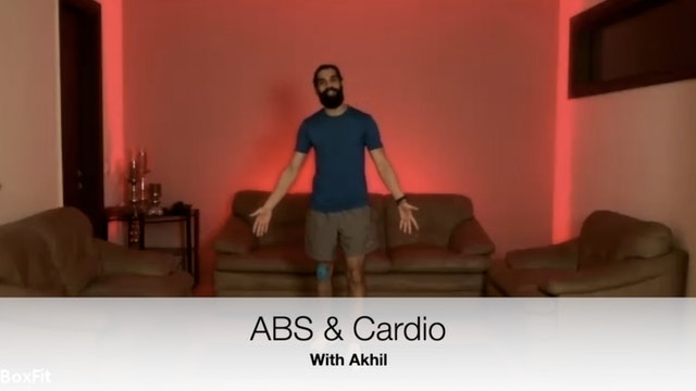 Sat 8/5 6pm IST | Abs & Cardio with Akhil