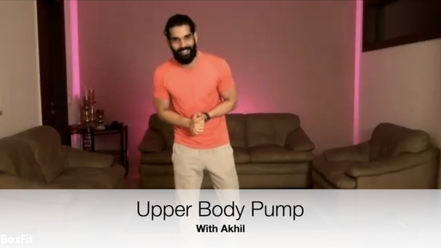 Tue 27/4 6pm IST | Upper Body Pump with Akhil