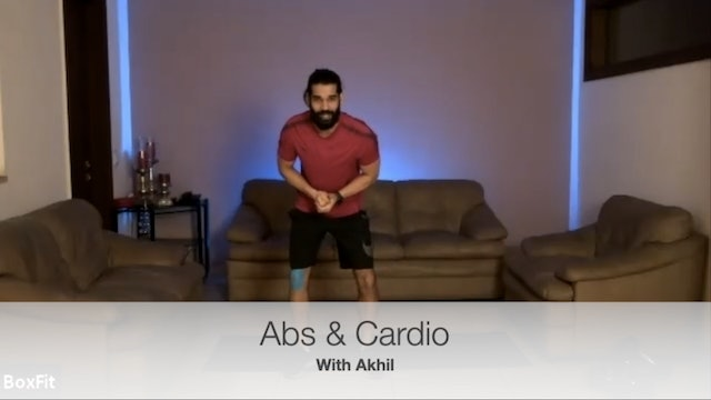 Wed 28/4 6pm IST | Abs & Cardio with Akhil