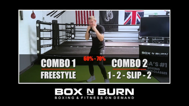 Heavy Bag Workout With Tony Jeffries x4 2 minute rounds