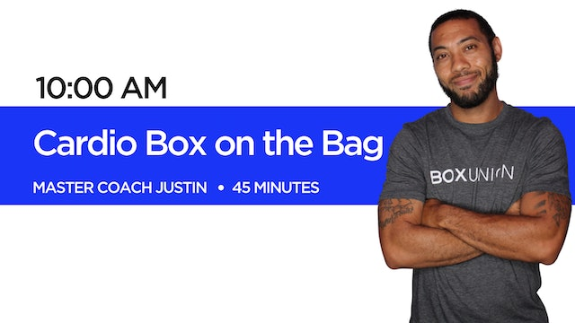 Cardio Box on the Bag with Coach Justin