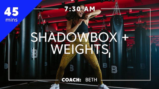 Shadowbox + Weights with Coach Beth