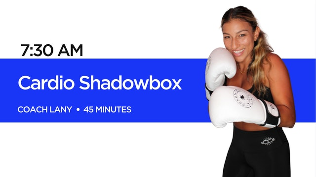 Cardio Shadowbox with Coach Lany